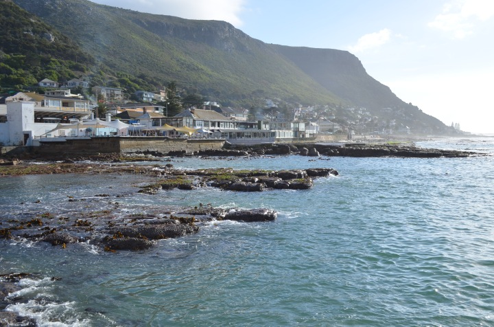 Kalk Bay Village from the harbour wall