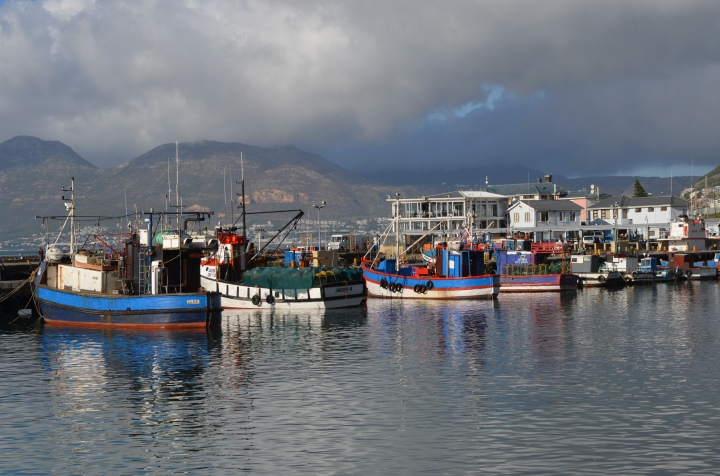 Kalk Bay Harbour and the fishing fleet at rest